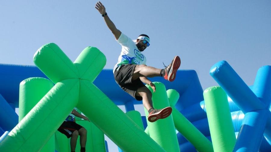 Homem participa da primeira edição do Circuito Corrida Insana; maioria dos participantes tinha entre 21 e 40 anos - Divulgação