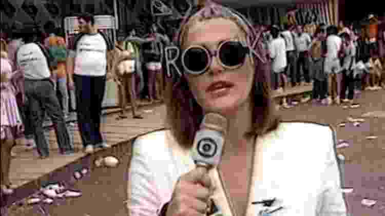 Ilze Scamparini à caráter no Rock in Rio em 1985 - Reprodução - Reprodução