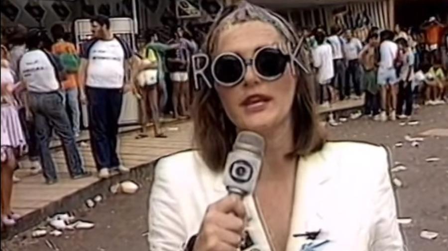 Ilze Scamparini à caráter no Rock in Rio em 1985 - Reprodução