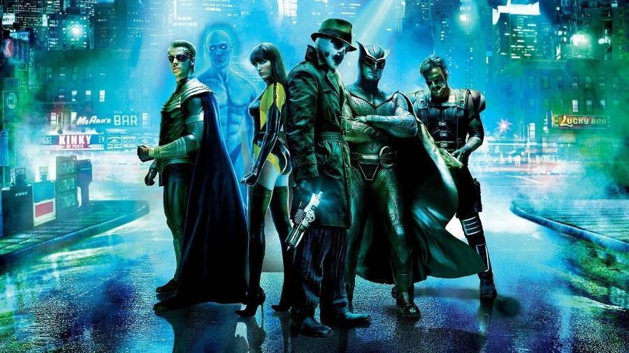 """Personagens de """"Watchmen"""" no filme de 2009 - Reprodução"""
