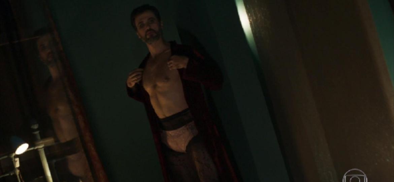 """Suzy (Ellen Rocche) fará barraco em hospital depois de descobrir que Samuel (Eriberto Leão) é gay, em """"O Outro Lado do Paraíso"""" - Reprodução/TV Globo"""