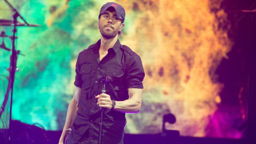 O cantor espanhol Enrique Iglesias se apresenta em Austin, no Texas - Suzanne Cordeiro/AFP