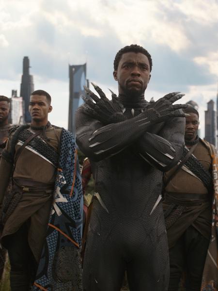 """Chadwick Boseman em """"Vingadores: Guerra Infinita"""" - Divulgação"""