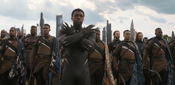 "Chadwick Boseman em ""Vingadores: Guerra Infinita"""