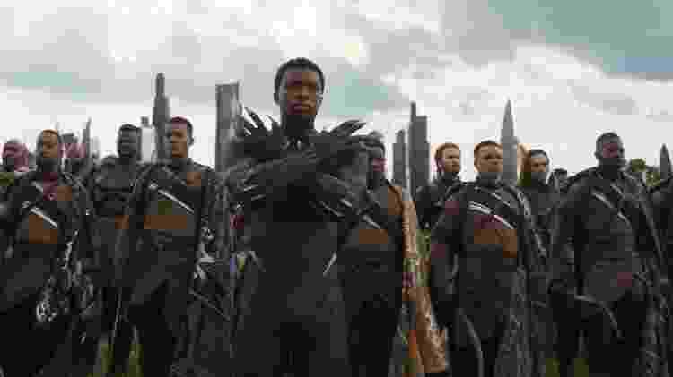"""Chadwick Boseman em """"Vingadores: Guerra Infinita"""" - Divulgação - Divulgação"""