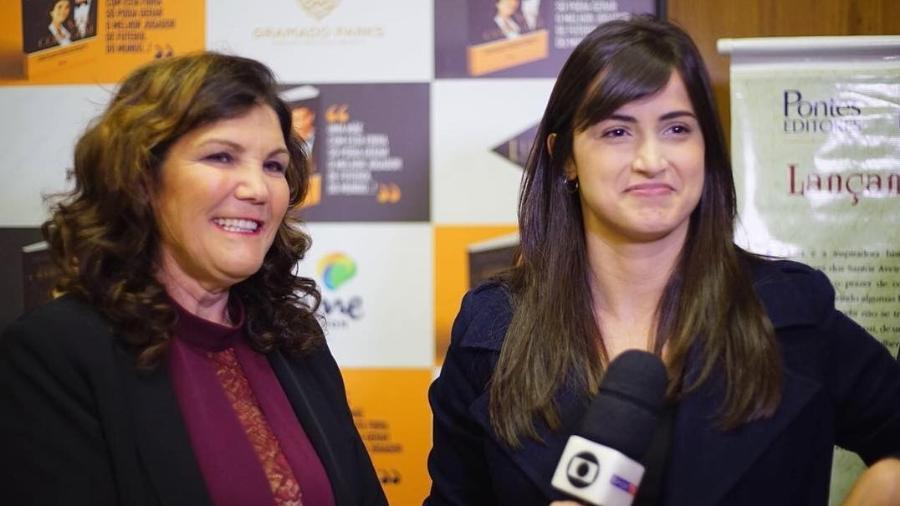 Em uma das entrevistas no Globo Esporte SP, Mari Palma entrevistou Dolores Aveiro, mãe de Cristiano Ronaldo, antes da Copa - Reprodução/Instagram