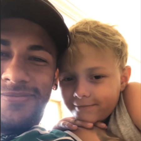 Neymar e Davi Lucca - Reprodução/Instagram
