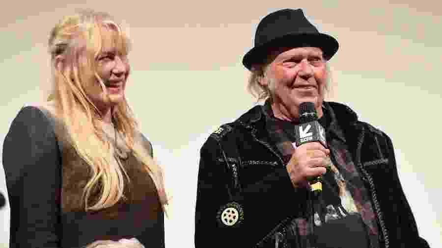 Daryl Hannah e Neil Young na edição 2018 do festival do SXSW - Matt Winkelmeyer/Getty Images