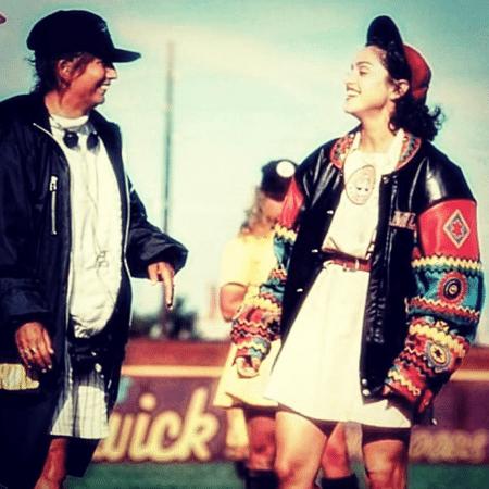 """Penny Marshall e Madonna no set de """"Uma Equipe Muito Especial"""" - Reprodução/Instagram"""