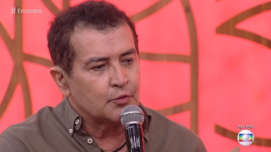 """Beto Barbosa durante entrevista no """"Encontro com Fátima"""", na Globo - Reprodução/Globo"""