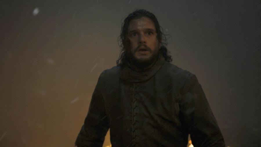 """Jon Snow em cena do terceiro episódio da oitava temporada de """"Game of Thrones"""" - Divulgação/HBO"""