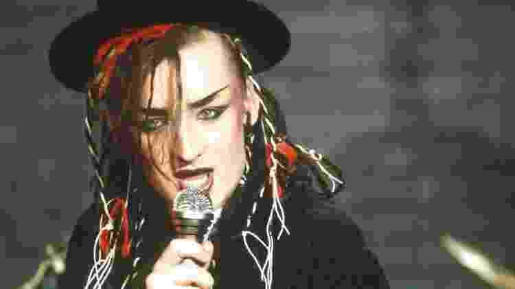 Boy George no auge do sucesso do Culture Club, nos anos 80 - Divulgação