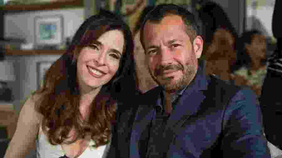 """Lyris (Deborah Evelyn) e Agno (Malvino Salvador) são casados em """"A Dona do Pedaço"""" - Paulo Belote/Globo"""