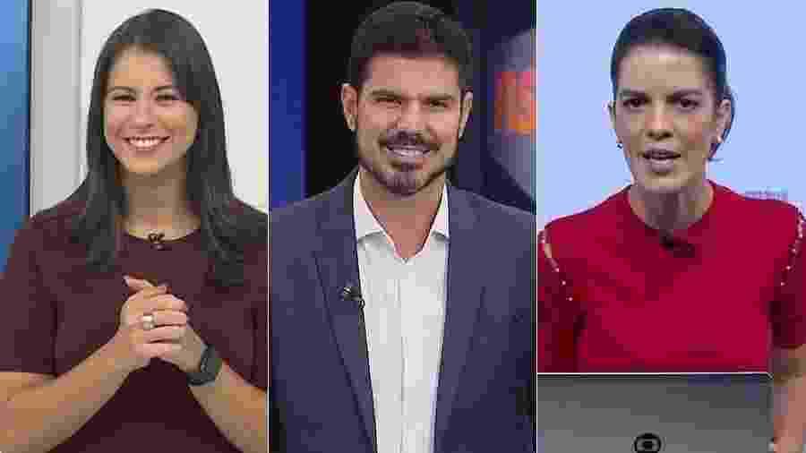 Jessica Senra, Fabian Londero e Mariana Gross, âncoras locais que apresentarão o JN - Montagem/UOL/Reprodução/TV Globo