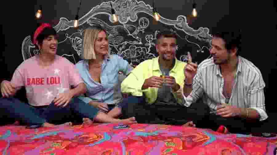 Fernanda Paes Leme, Giovanna Ewbank, Bruno Gagliasso e João Vicente de Castro - Reprodução/Youtube