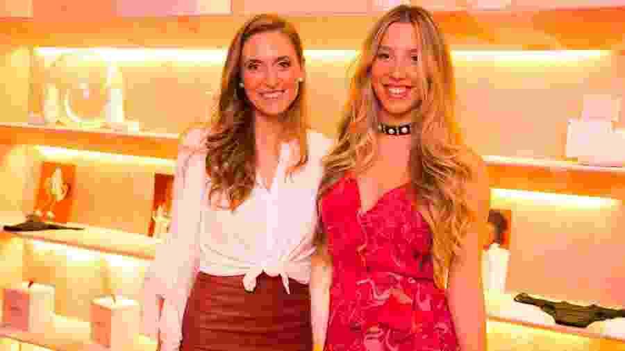 Emily Ewell (esq.) e Maria Eduarda Camargo, donas da empresa de calcinhas absorventes Pantys - Arquivo pessoal