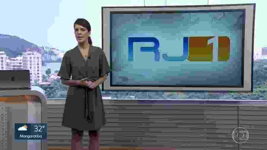 Mariana Gross no RJ1 - Reprodução/TV Globo