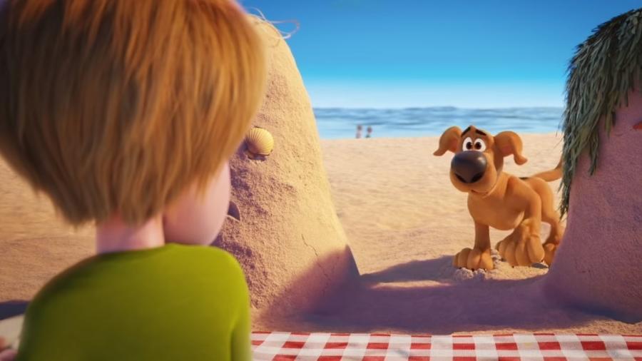 Filme mostra que início da parceria de Scooby-Doo com Salsicha aconteceu em uma praia - Reprodução/YouTube