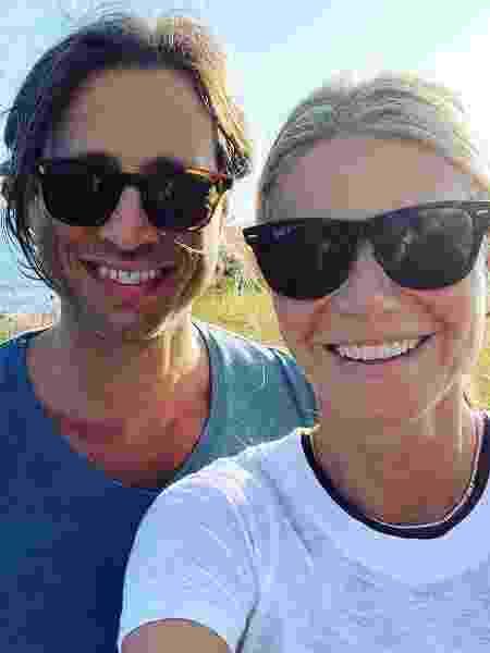 Gwyneth Paltrow com o marido, o diretor Brad Falchuk - Reprodução/Instagram