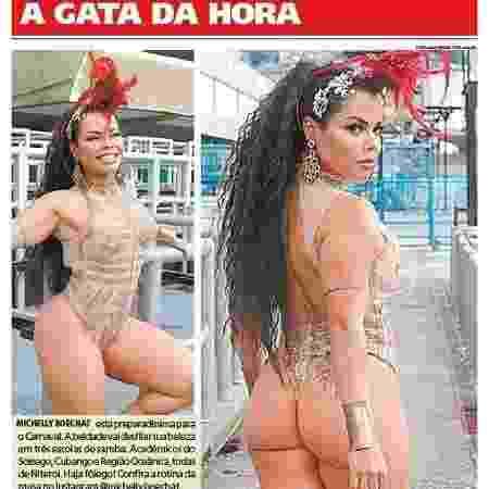 Michelly Boechat posou para jornal carioca - Divulgação