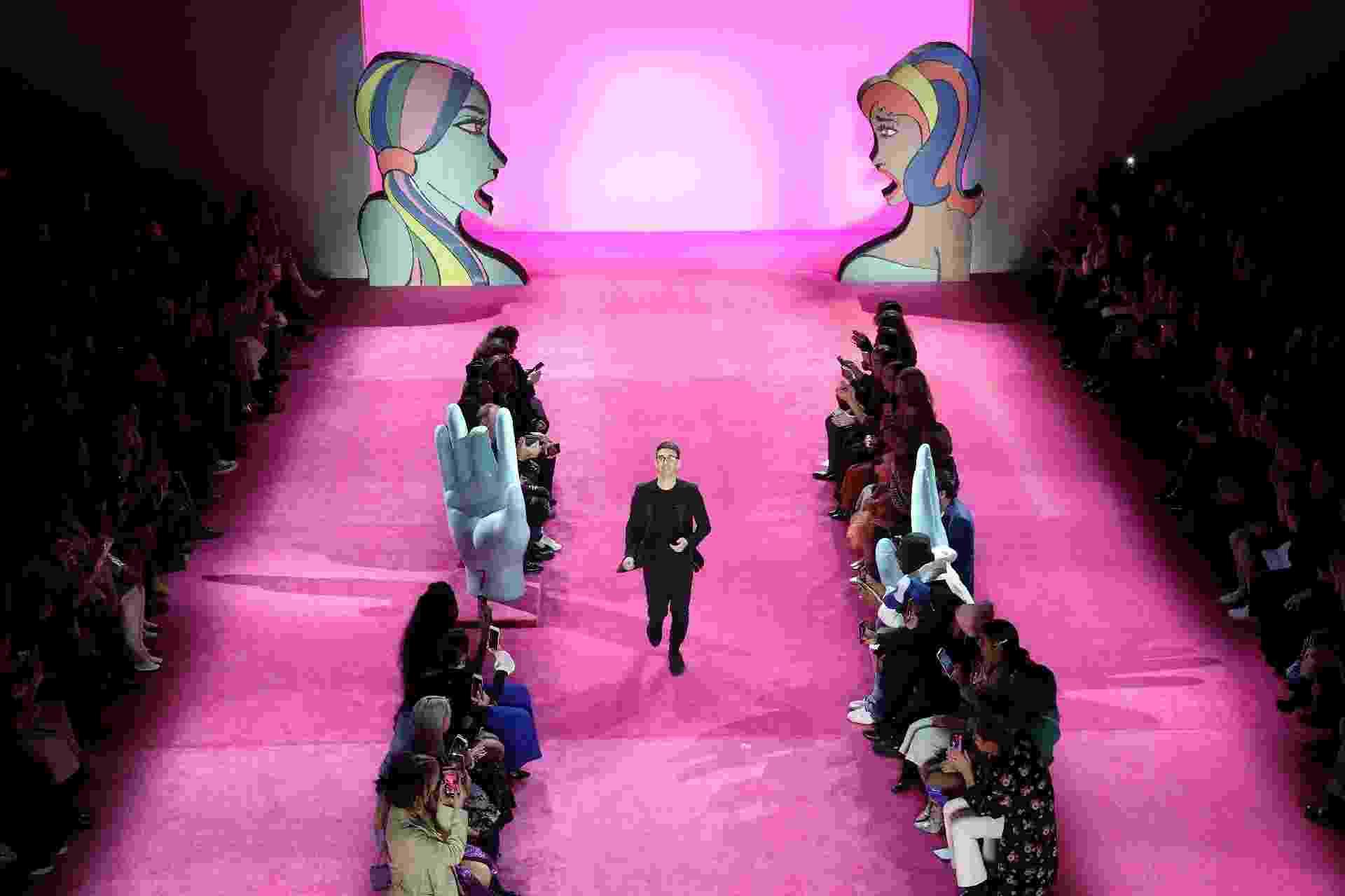 Christian Siriano durante a Semana da Moda de Nova York - Getty Images/AFP