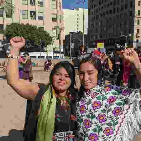 Protesto Jane Fonda e Joaquin Fênix - Fernanda Ezabella/UOL - Fernanda Ezabella/UOL