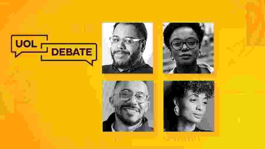 O UOL Debate terá a presença de Stephanie Ribeiro, Tainá de Paula, Thiago Amparo e mediação de MM Izidoro - Arte/UOL