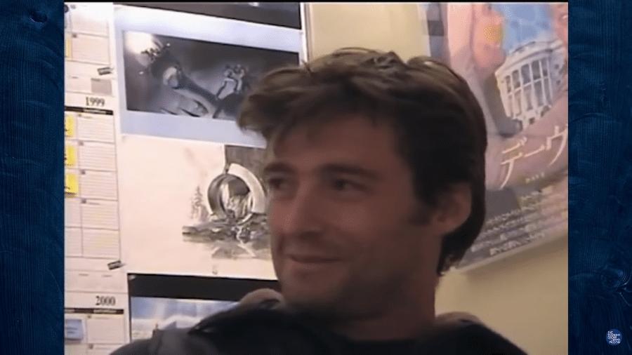 Hugh Jackman durante teste para o papel do Wolverine, em 1999 - Reprodução/YouTube