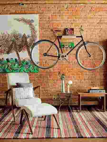 Bike na decoração de casa - Reprodução/Pinterest - Reprodução/Pinterest