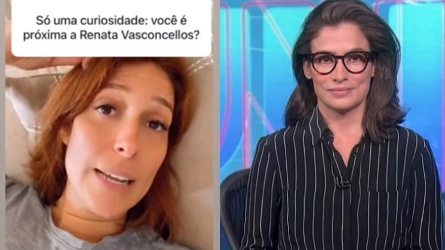 """Natasha Dantas confessa sobre Renata Vasconcellos: """"Crush nela"""" - Reprodução/ Instagram"""