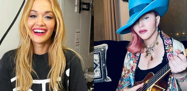 'Foi estranho'   Rita Ora sobre conhecer Madonna: 'Pediu para que eu me ajoelhasse'