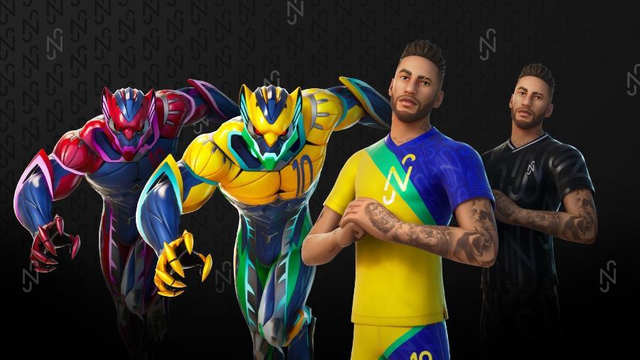 Skins Neymar Fortnite - Divulgação/Epic Games