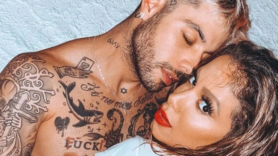 """Anitta namorou Gui Araújo no início da pandemia; ele está em """"A Fazenda 13"""" - Reprodução/Instagram"""
