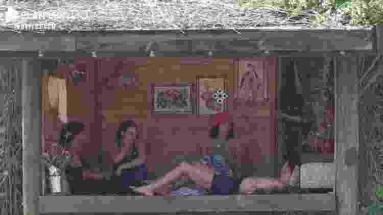 A Fazenda 2021: Tati Quebra Barraco, Rico Melquiades, Aline Mineiro e Dayane Mello conversam sobre sexo - Reprodução/PlayPlus - Reprodução/PlayPlus