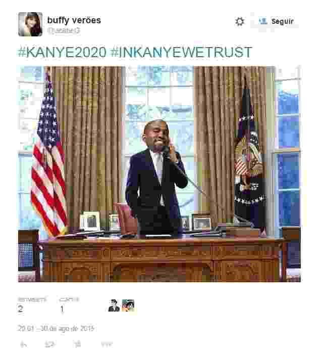 Meme de Kanye West no VMA 2015 - Reprodução/Instagram