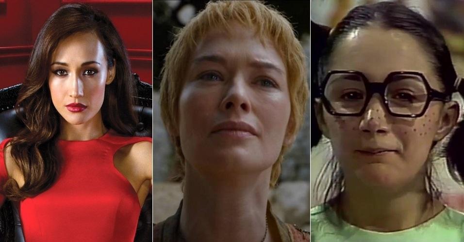 """Cersei Lannister (Lena Headey) tinha a voz de Angélica Borges, a mesma da espiã Nikita Mears da série """"Nikita"""". Na sexta temporada, é dublada por Sandra Mara Azevedo, famosa pela Chiquinha da série """"Chaves"""""""