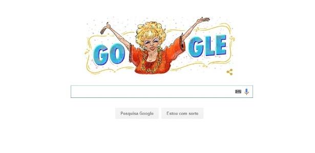 Dercy Gonçalves, que morreu em 2008, recebe homenagem do Google no Brasil - Reprodução/Google