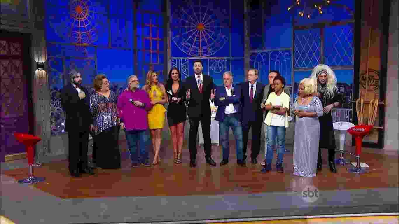 """18.ago.2016 - Danilo Gentili apresenta """"The Noite"""" especial 35 anos do SBT - Reprodução/SBT"""