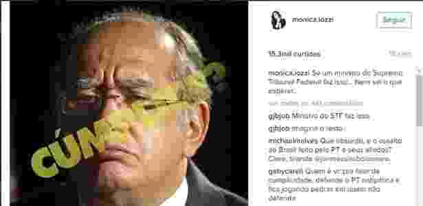 mai.2016 - Monica Iozzi critica ministro Gilmar Mendes por habeas corpus a Roger Abdelmassih - Reprodução/Instagram/monica.iozzi - Reprodução/Instagram/monica.iozzi