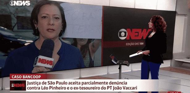 Jornalista da Globo News diz que manifestante não sabe como funciona câmera - Reprodução/Globo News