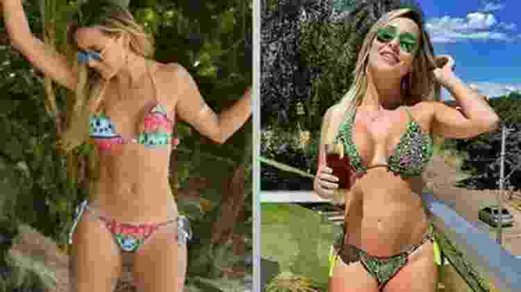 "Ex-BBB Leticia Santiago mostra antes e depois para ""provar"" que tem barriga na gravidez - Reprodução/Instagram/le_santiago - Reprodução/Instagram/le_santiago"