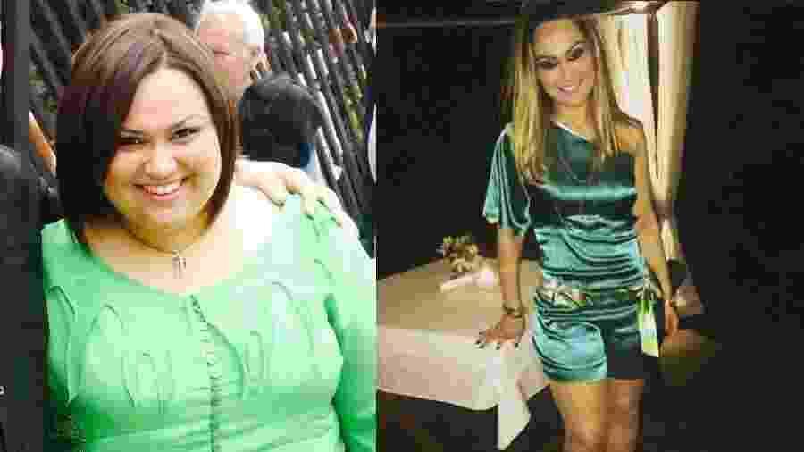 Antes e depois da cantora Jack Muller, ex-caloura do Raul Gil 10 - Arquivo Pessoal