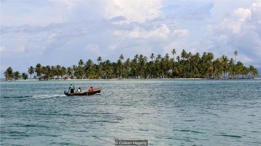 A ausência de grandes construções permite uma vista sem obstáculos de ilha para ilha - Collen Hagerty/BBC
