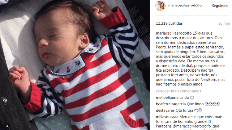 Maria Cecília e Rodolfo divulgaram fotos do filho Pedro - Reprodução/Instagram - Reprodução/Instagram