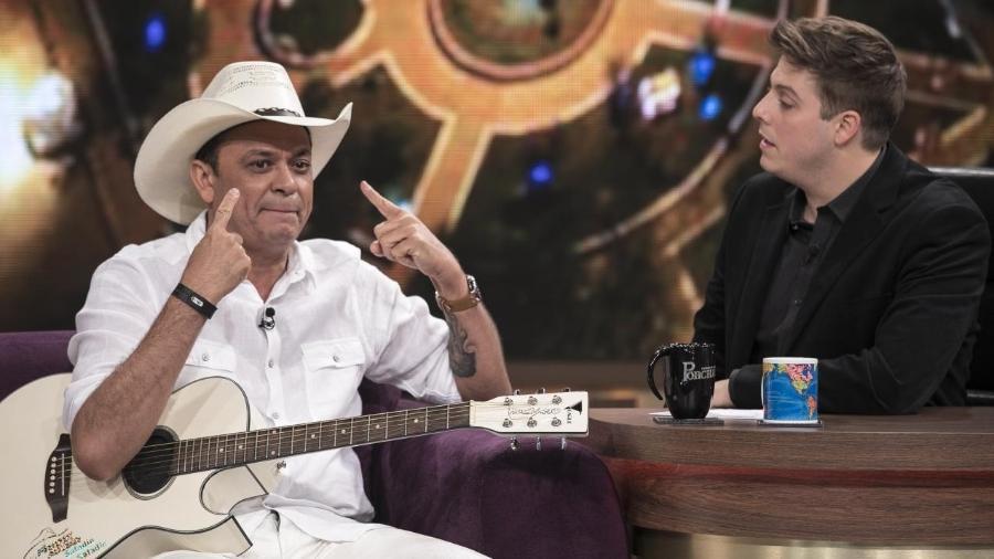 """Frank Aguiar no """"Programa do Porchat"""" - Edu Moraes/RecordTV"""
