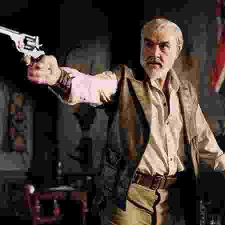 """Sean Connery em seu último papel, como Allan Quatermain em """"A Liga Extraordinária"""" (2003) - Divulgação"""