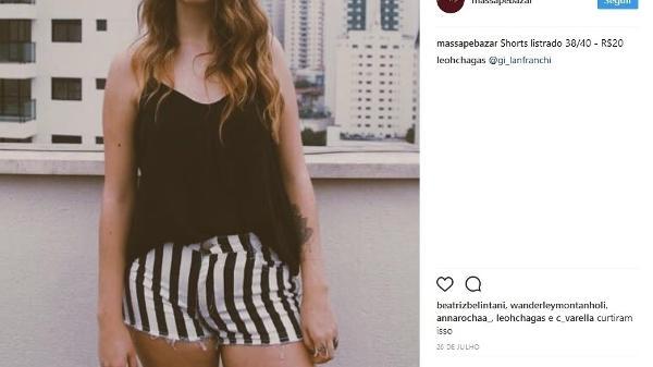 6195657d6729 A estudante Leticia vende roupas usadas na pagina do Instagram  @massapebazar; peça mais cara