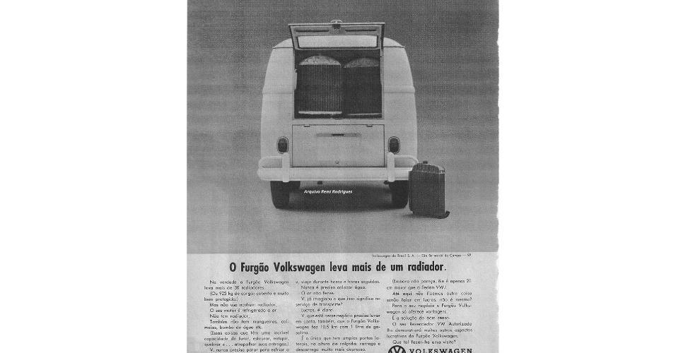 Anúncio Volkswagen Kombi Anos 1950