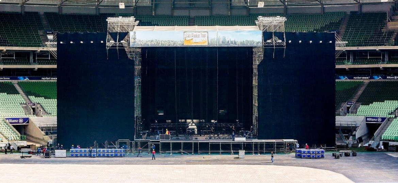 Montagem do palco do festival São Paulo Trip no Allianz Parque - Ricardo Matsukawa/Mercury Concerts