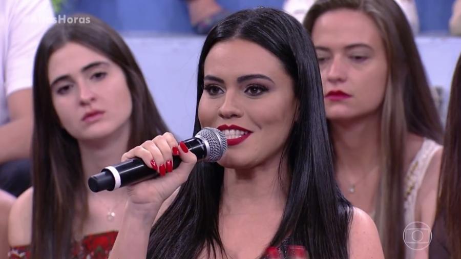 """Leticia Lima no """"Altas Horas"""" - Reprodução/Globo"""
